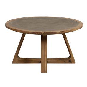 Table basse ronde contemporaine en acacia massif - Organic - Visuel n°4