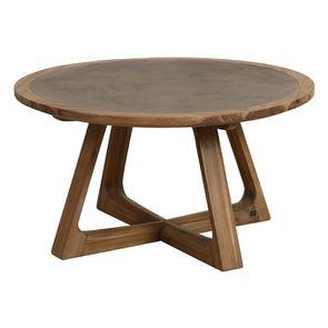 Table basse ronde contemporaine en acacia massif - Organic - Visuel n°5