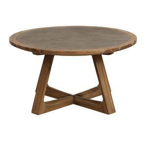 Table basse ronde contemporaine en acacia massif - Organic - Visuel n°6