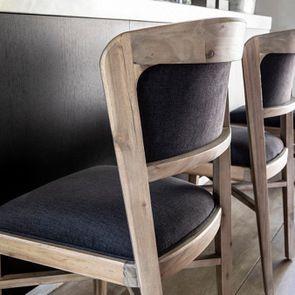 Chaise contemporaine en tissu gris anthracite - Organic - Visuel n°6