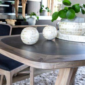 Table repas contemporaine en acacia massif - Organic - Visuel n°3
