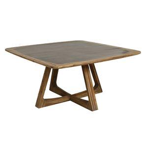 Table repas contemporaine en acacia massif - Organic - Visuel n°4