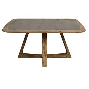 Table repas contemporaine en acacia massif - Organic - Visuel n°5