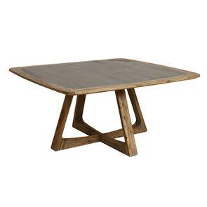 Table repas contemporaine en acacia massif - Organic - Visuel n°6
