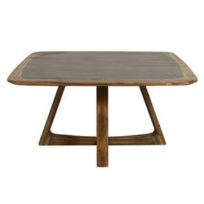Table repas contemporaine en acacia massif - Organic - Visuel n°7