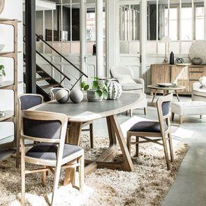 Table ovale contemporaine en acacia massif - Organic - Visuel n°4
