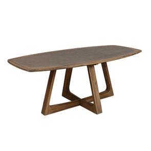 Table ovale contemporaine en acacia massif - Organic - Visuel n°5