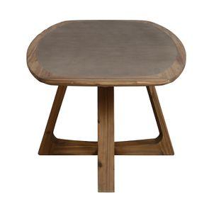 Table ovale contemporaine en acacia massif - Organic - Visuel n°6