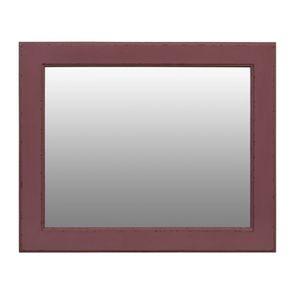 Miroir rectangulaire en bois lilas
