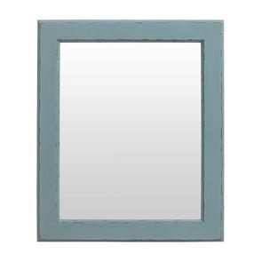 Miroir rectangulaire en bois nuage de bleu