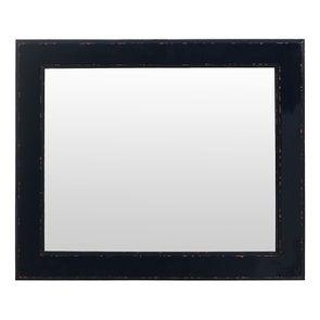 Miroir rectangulaire en bois bleu indigo