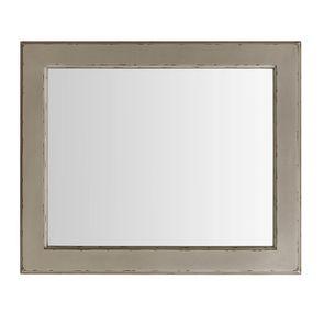 Miroir rectangulaire en bois gris fumé