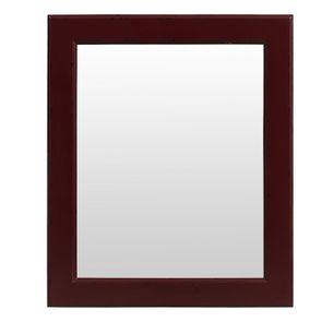 Miroir rectangulaire en bois lie de vin