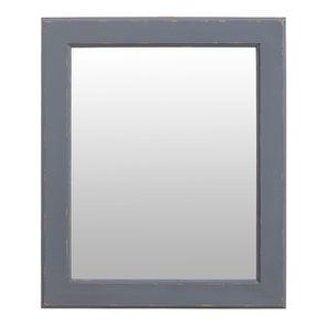 Miroir rectangulaire en bois gris souris