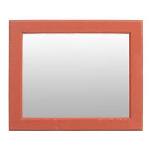 Miroir rectangulaire en bois terra cotta