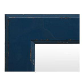 Miroir rectangulaire bleu saphir glossy