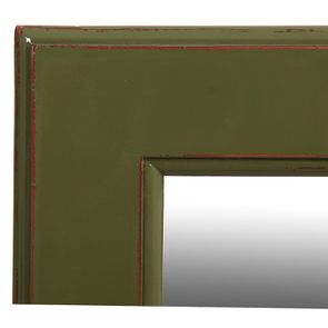 Miroir rectangulaire vert olive