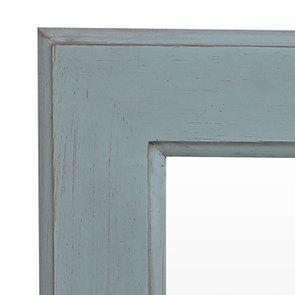 Miroir rectangulaire en bois nuage de bleu patiné