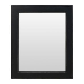 Miroir rectangulaire en bois noir graphite patiné