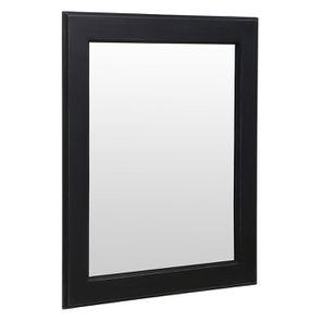 Miroir rectangulaire en bois noir graphite patiné - Visuel n°2