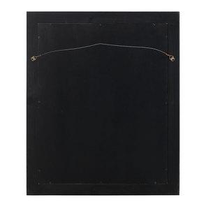 Miroir rectangulaire en bois noir graphite patiné - Visuel n°4