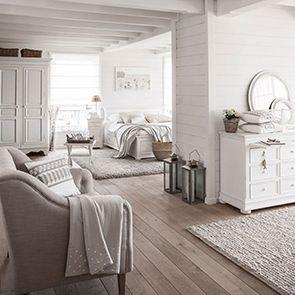 Armoire penderie blanche 2 portes en bois - Harmonie
