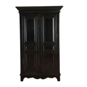 Armoire penderie noire 2 portes en bois - Harmonie