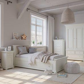 Armoire penderie blanche 2 portes 3 tiroirs - Harmonie - Visuel n°2