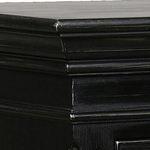 Commode chiffonnier noire baroque 7 tiroirs - Harmonie