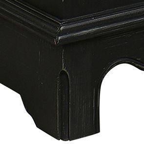 Commode semainier noire baroque 7 tiroirs - Harmonie - Visuel n°3