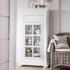 Meuble de rangement vitré blanc - Harmonie