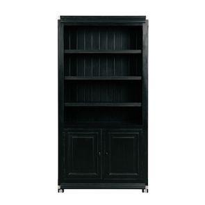 Bibliothèque modulable en bois noir 2 portes - Harmonie