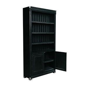 Bibliothèque modulable en bois noir 2 portes - Harmonie - Visuel n°2