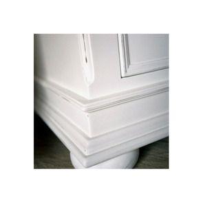 Meuble TV blanc en bois avec rangements - Harmonie - Visuel n°3