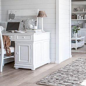 Bureau informatique blanc avec tiroirs - Harmonie - Visuel n°3