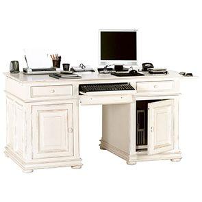 Bureau informatique blanc avec tiroirs - Harmonie - Visuel n°5