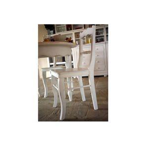 Chaise blanche en bois - Harmonie - Visuel n°2