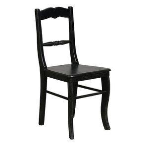 Chaise noire baroque en bois - Harmonie - Visuel n°2