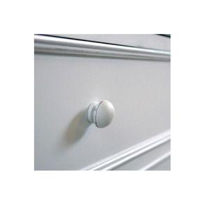 Lit 140x190 avec tiroirs en bois blanc satiné - Harmonie - Visuel n°4