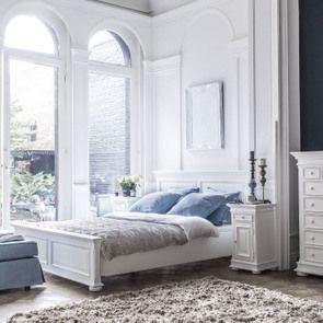 Tête de lit 160 blanche en bois - Harmonie