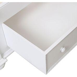 Lit 180x200 avec tiroirs en bois blanc satiné - Harmonie - Visuel n°2