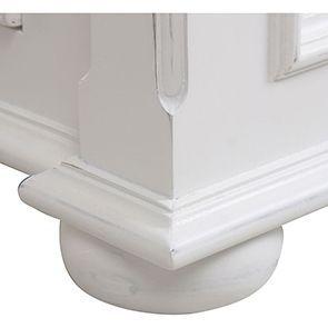 Lit 180x200 avec tiroirs en bois blanc satiné - Harmonie - Visuel n°4
