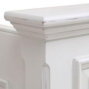 Lit 180x200 avec tiroirs en bois blanc satiné - Harmonie - Visuel n°5