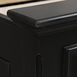 Lit 180x200 avec tiroirs en bois noir - Harmonie - Visuel n°4