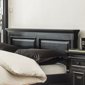Tête de lit 180 noire en bois - Harmonie
