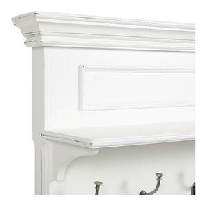 Meuble d'entrée en bois blanc satiné - Harmonie - Visuel n°12