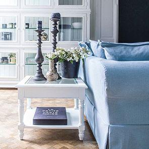 Bout de canapé avec plateau en verre - Harmonie