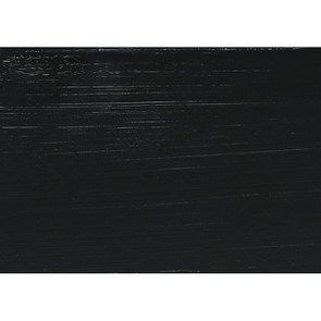 Bout de canapé noir avec plateau en verre - Harmonie