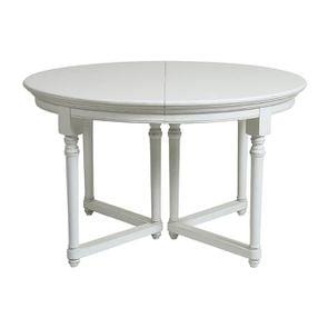Table ronde extensible en bois blanc satiné - Harmonie