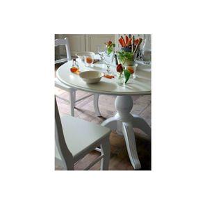 Table ronde extensible blanche 6 personnes - Harmonie - Visuel n°2